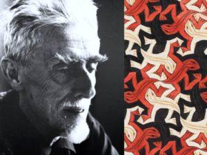 M.C. Escher's famous reptile print