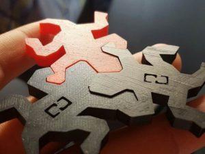 Reptile Puzzle 3D printed