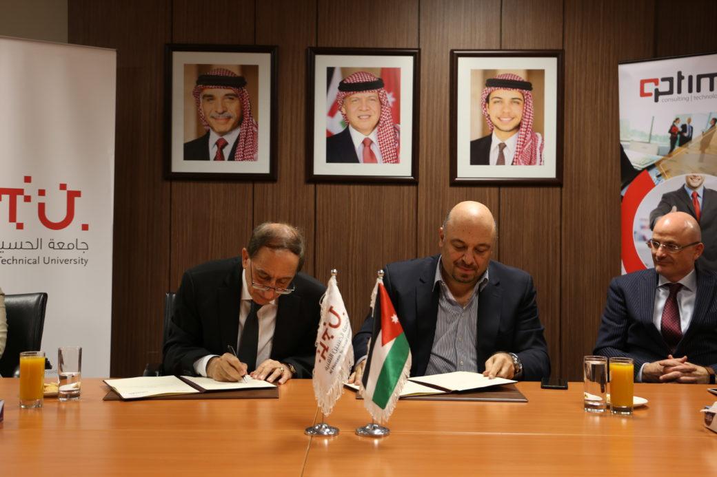 Al Hussein Technical University and Optimiza sign a MoU